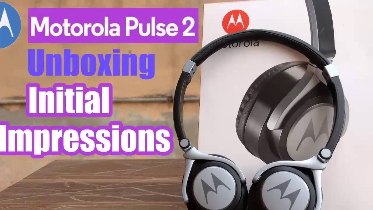 d5243dd7f9c Motorola Pulse 2 SH005 Unboxing (Black) - On Ear Wired Headphone Complete  Review - YouTube
