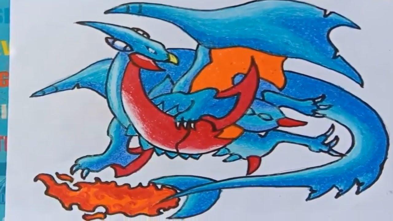 Vẽ pokemon rồng – vẽ pokemon kết hợp thành Rồng lửa