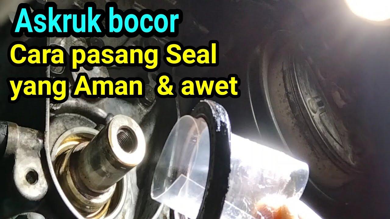 Seal As kruk rembes oli , cara ganti dan pasang seal baru agar awet dan tidak rembes lagi