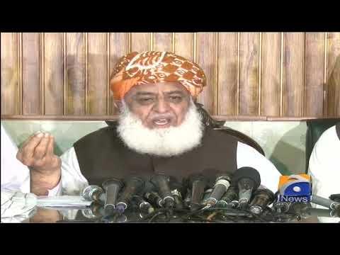 JUI-F Ke Sarbarah Maulana Fazal Ur Rehman Ki Peshawar Mein Press Conference