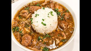 Quarantine Dish # 1 : Chicken & Sausage Gumbo - I Heart Recipes