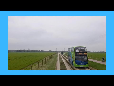 Cambridgeshire Busway B Full Route Visual- Peterborough To Cambridge
