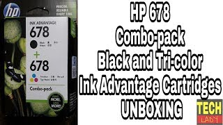 HP 678 Combo-pack Black and Tri-color Ink Advantage Cartridges Unboxing