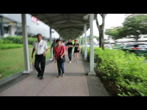 Travel in Singapore by walking views.