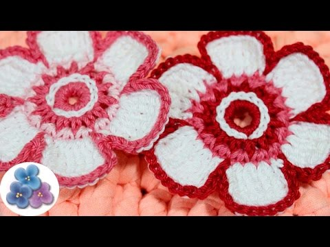 como hacer flores de crochet tutorial flores de ganchillo pintura facil youtube