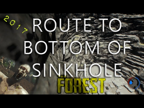 Bottom of The SInkhole in The Forest (Tutorial 2017) FASTEST ROUTE/No Glitch/EASY PATH