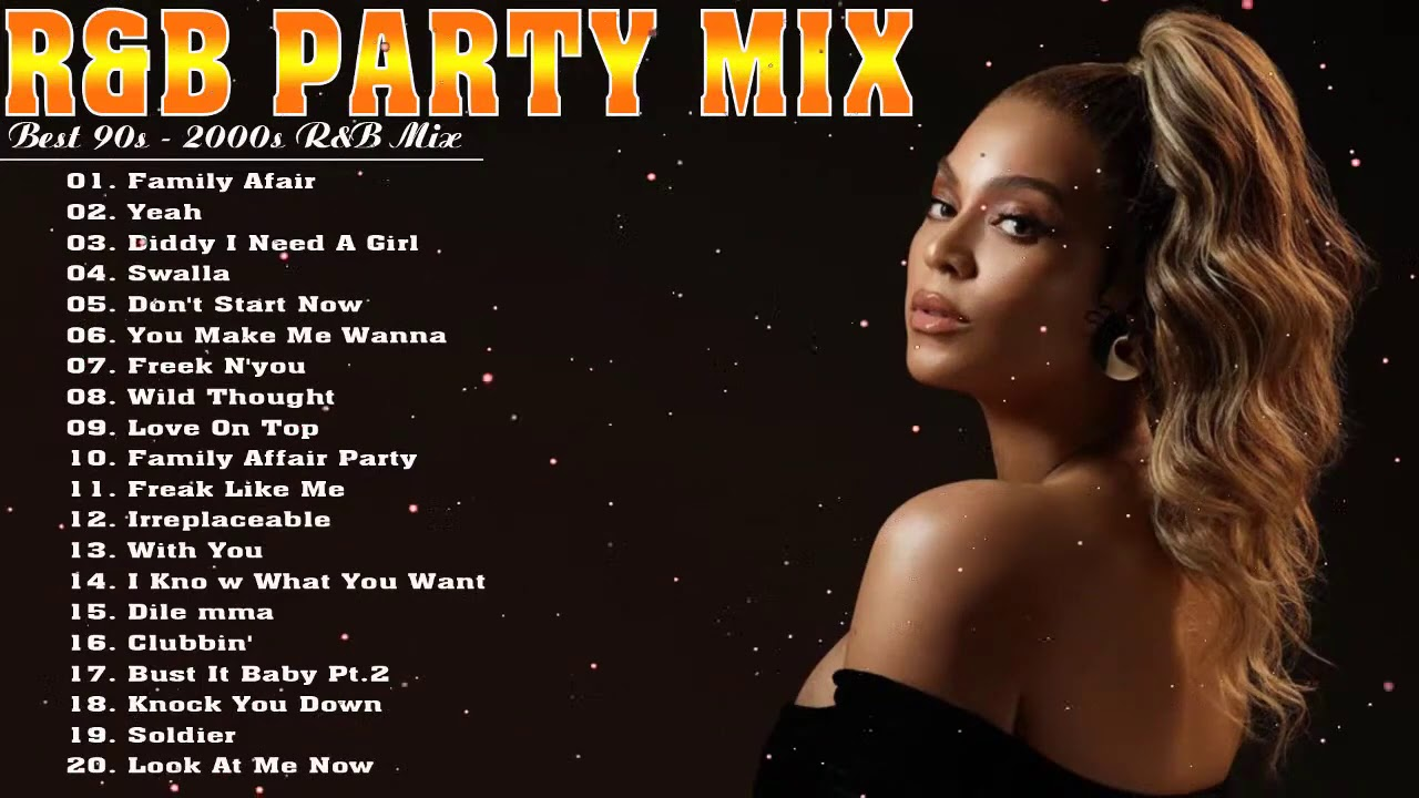 90S R&B PARTY MIX -  Aaliyah, Mary J  Blige, R  Kelly, Usher, S W V