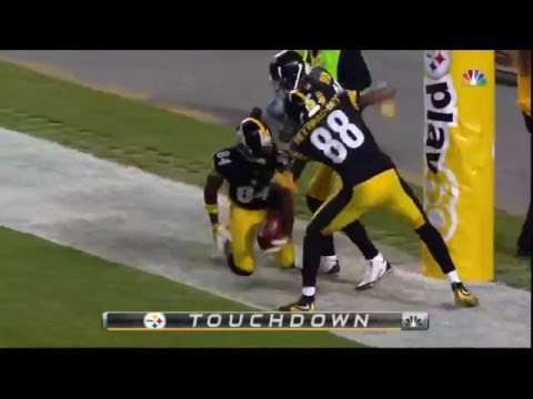 Antonio Brown Slams Into Goal Post!!