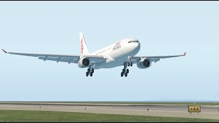 X-Plane 11 - Dragonair A330-243 Landing Hong Kong International Airport (VHHH)