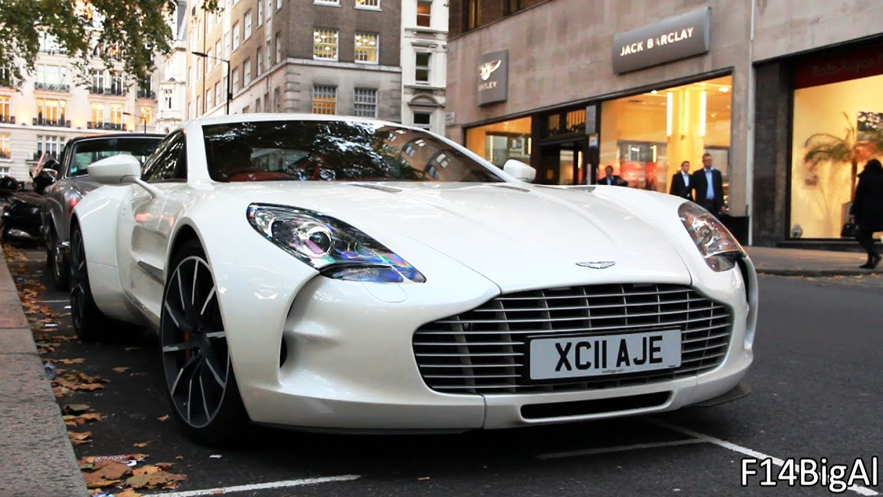 aston martin one-77 startup sound in london - youtube