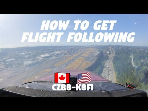 How to fly to the USA from Canada | CESSNA 172 | ATC Audio