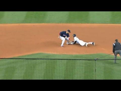 BOS@NYY: Yanks steal seven bases off Varitek