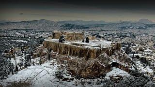 В Афинах выпал снег...