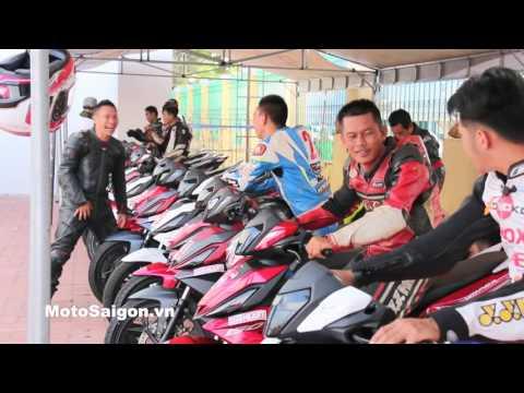 Giải đua xe moto SVĐ Bà Rịa Vũng Tàu MSX125 Winner 150 Blade 110 Wave