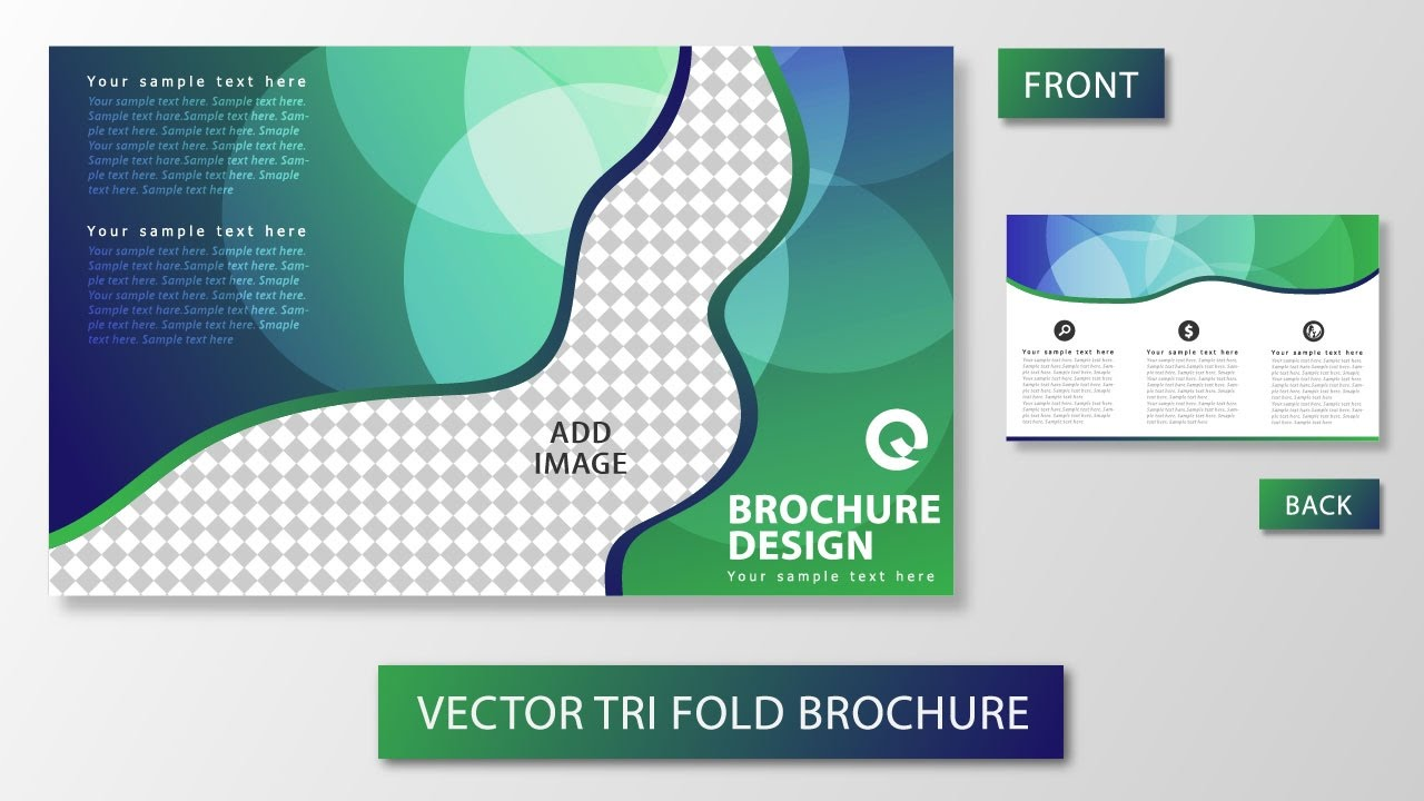 tri fold brochure template illustrator free - illustrator tutorial tri fold brochure design youtube