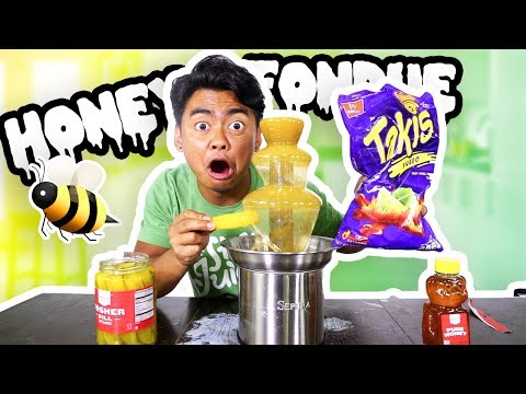 Thumbnail: HONEY FONDUE CHALLENGE!