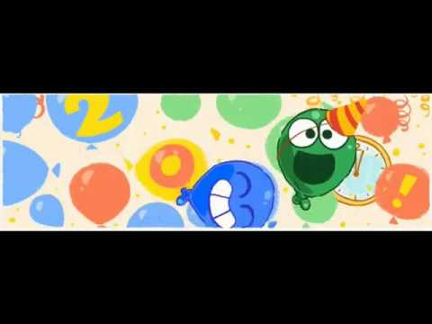 new years day 2017 Google Doodle