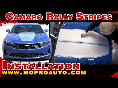 INSTALL 2019 Camaro Racing Stripes REV RALLY Hood Decals Chevy Camaro Stripes Vinyl Graphics Kit