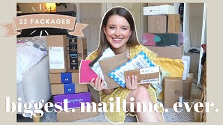 THE BIGGEST MAILTIME I HAVE EVER DONE - Opening 22 Packages | CB2, Anthropologie, Jewelry, Skincare