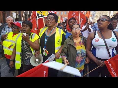 Barts Trust NHS workers striking against Low Pay