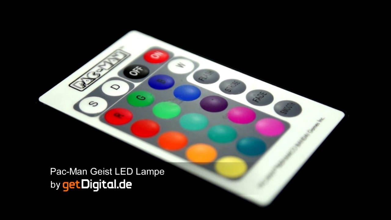 Große Pac_Man Geist Farbwechsel LED Lampe www.getdigital.de - YouTube