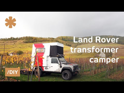 Couple's own Paris-Dakar using Land Rover transformer-camper