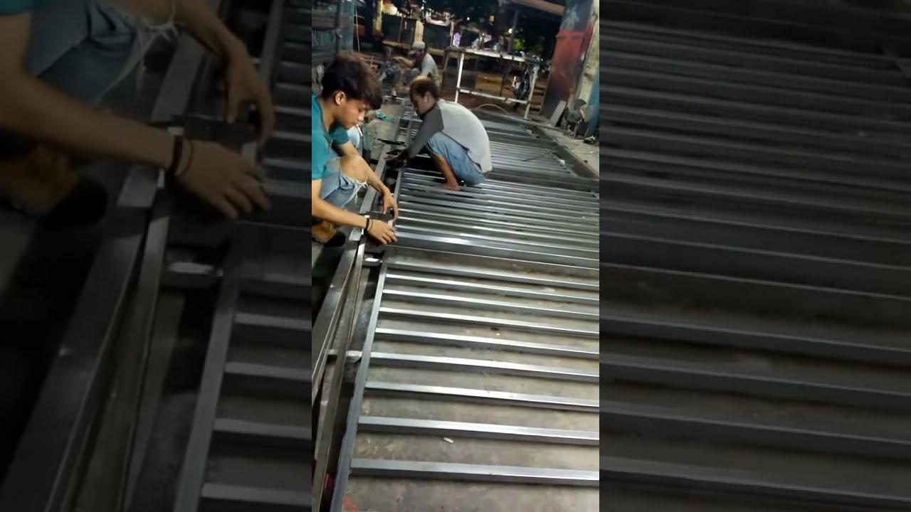 Proses Pembuatan Pintu Pagar Minimalis Besi Hollow Youtube