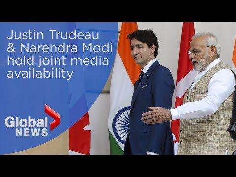 Justin Trudeau, Narendra Modi agree to fight terrorism during press conference