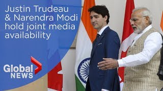 Justin Trudeau, Narendra Modi agree to fight terrorism during press conference