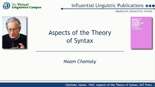 SYN1965 - Aspects of the Theory of Syntax (N. Chomsky)