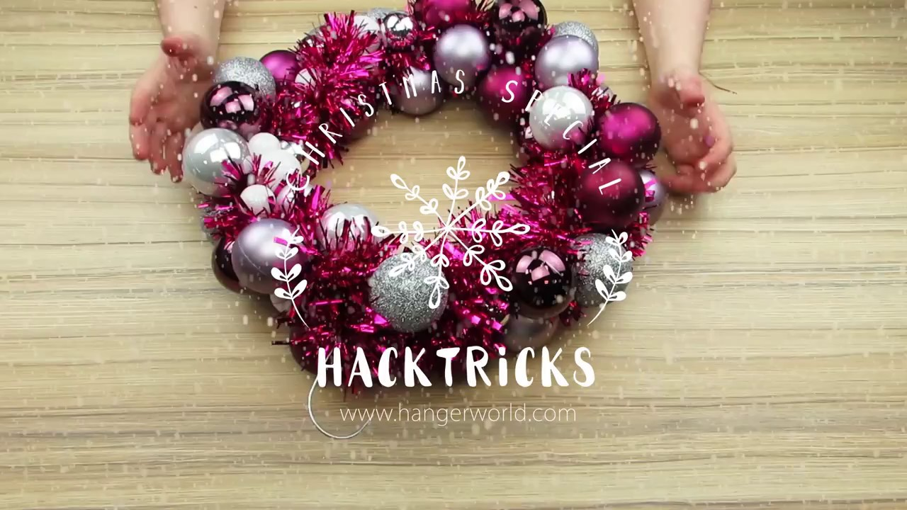 Hacktricks diy bauble wreath youtube hacktricks diy bauble wreath solutioingenieria Choice Image