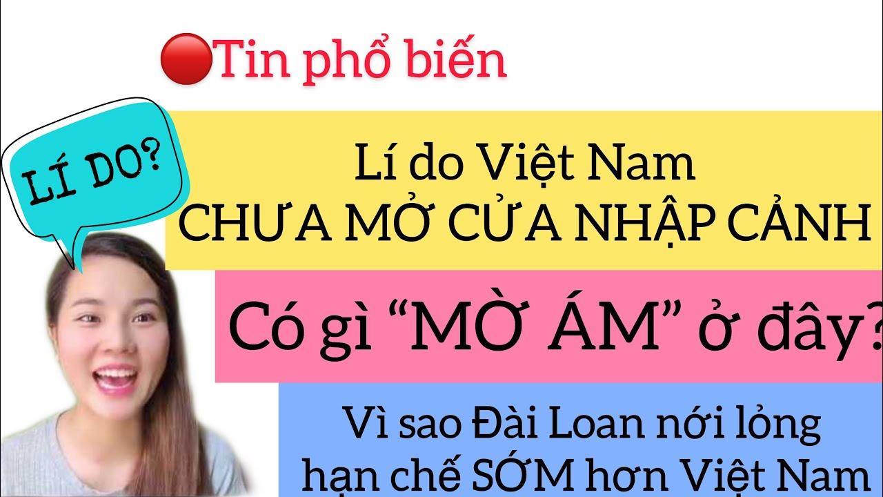 Lí do Việt Nam chưa mở cửa nhập cảnh | Taiwan Vlog