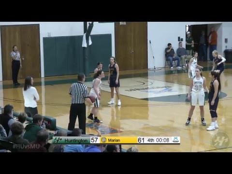 HU Women's Basketball vs. Marian University -- 1.13.18