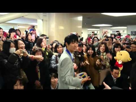 羽生結弦選手の仙台市役所表敬訪問動画