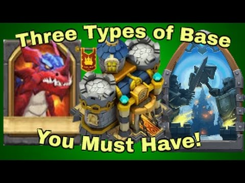 Three Types Of Base You Must Have In Your Edit Mode 2017 : Castle Clash Base