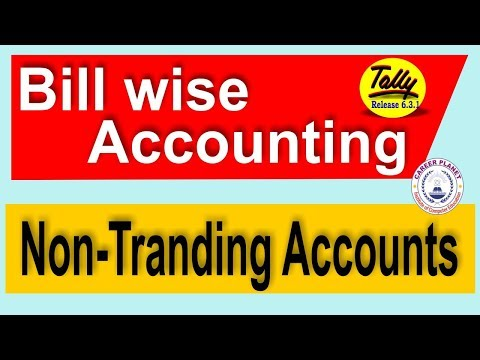 Tally ERP 9-Bill wise Accounting for non-trading Account Part-77| Learn Tally Accounting
