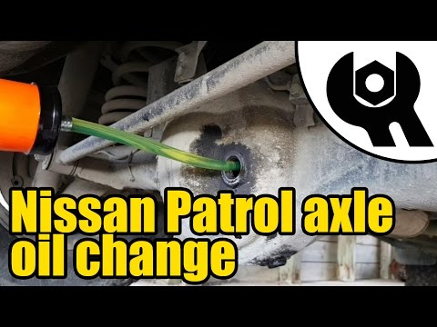 #1812 - Nissan Patrol GR TD42 Diesel axle oil change