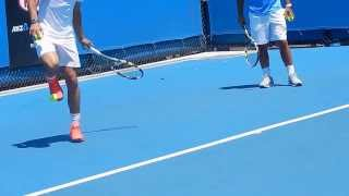 Nadal Awesome Ball Trick - 2014 Australian Open