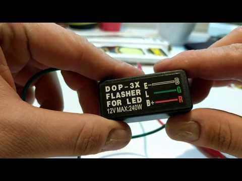 Universal blinker relay 3 pin 12v, led turn signal