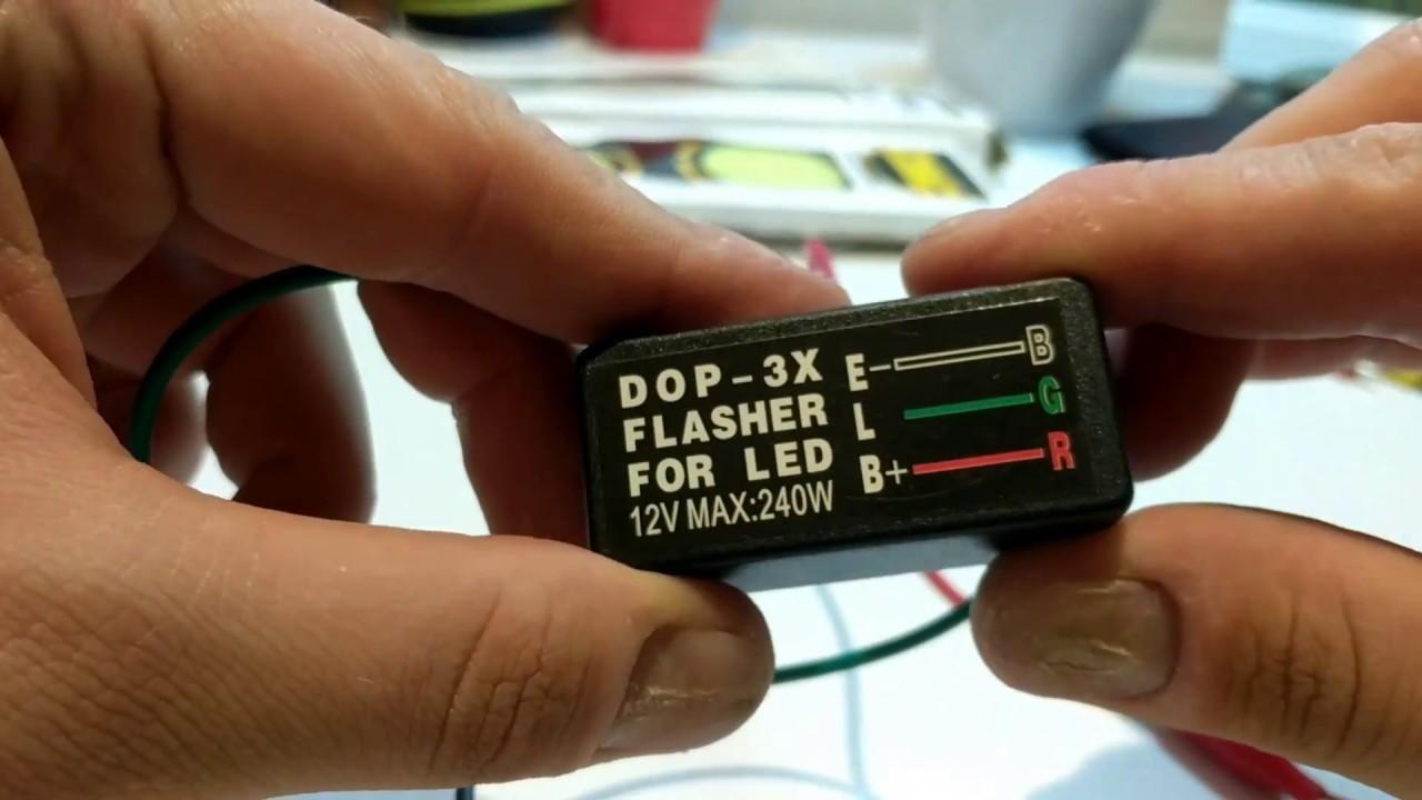 Universal blinker relay 3 pin 12v, led turn signal  YouTube