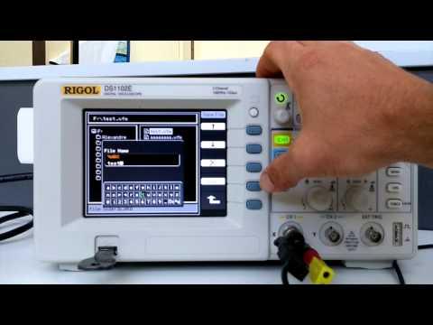 TP de physique : manipulation d'un l'oscilloscope numérique Rigol