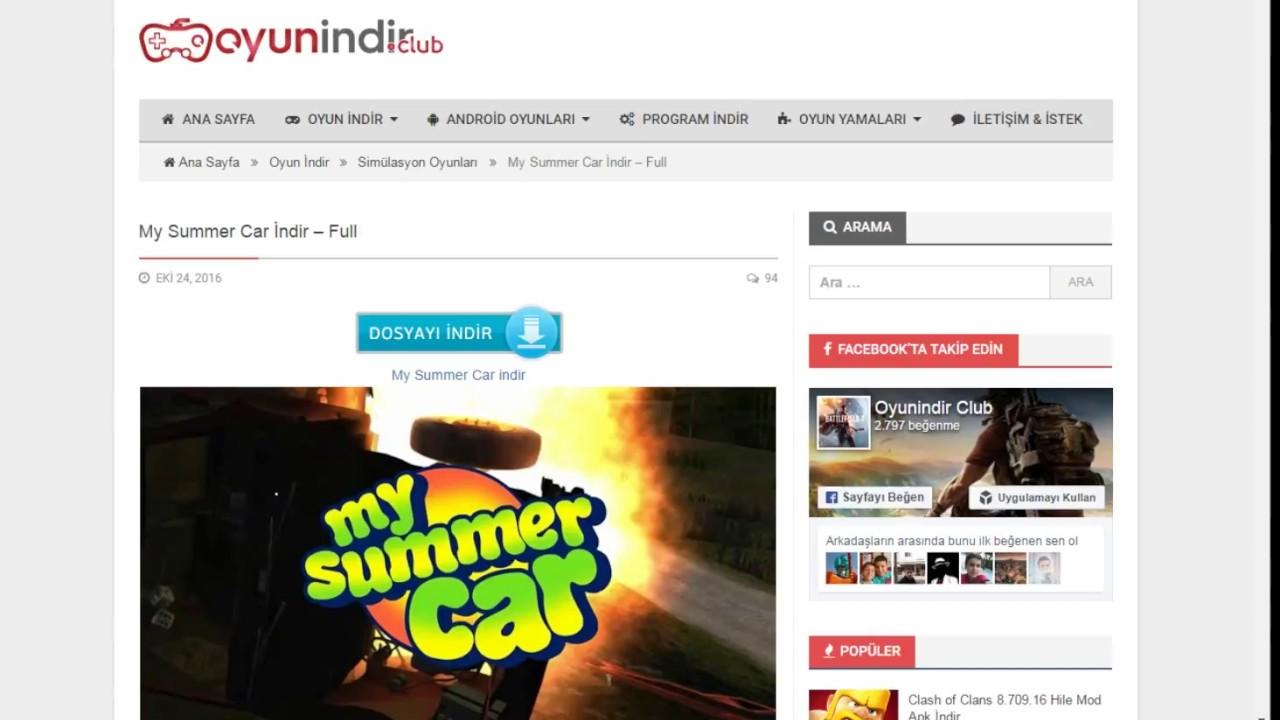 My Summer Car Indirme Ilk Videom Youtube