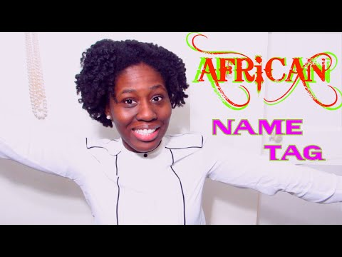 African Name Tag