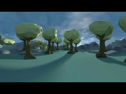 360 VR Trees and Forest Environment