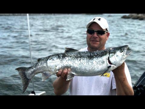 Jigging Coho Salmon & Trout Lake Michigan  - Larry Smith Outdoors