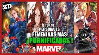 Top 10: Personajes De MARVEL Más Afectadas Por La REGLA 34 (+18) | Z Drakzon Vega