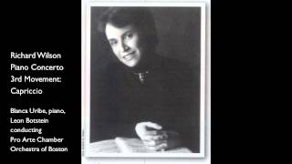 Blanca Uribe Plays Richard Wilson Piano Concerto 3rd Movement: Capriccio