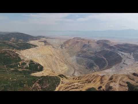 Bingham Canyon Mine, A K A  Kennecott Copper Mine Drone Video