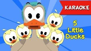 Five Little Ducks [KARAOKE]   Nhạc Thiếu Nhi Hay   Bé Học Tiếng Anh Qua Bài hát