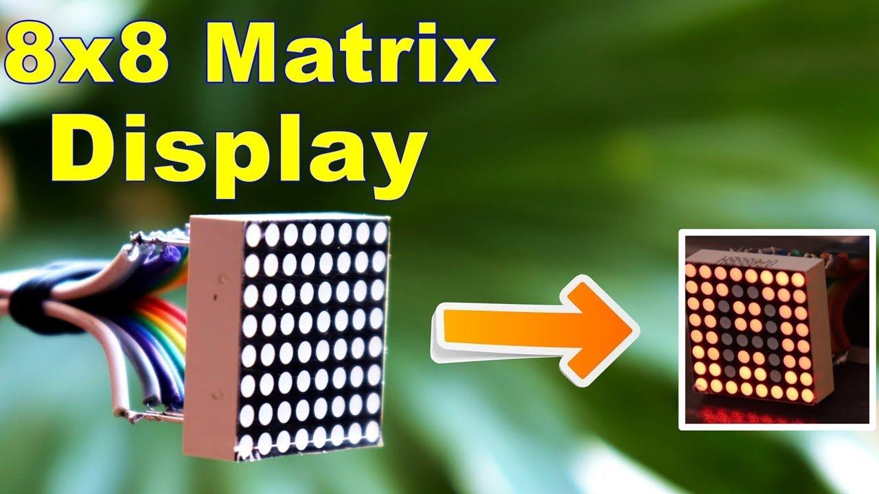 8x8 Dot Matrix Display Project Led Circuit Diagram